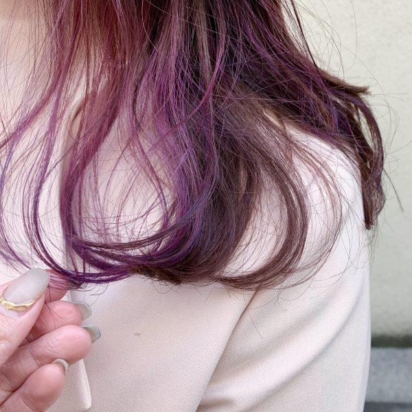 おすすめ☆インナーカラー『ピンクバイオレット』